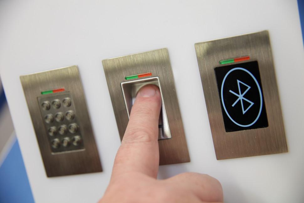 Czytnik linii papilarnych do drzwi - Klawiatury z kodem - Bluetooth